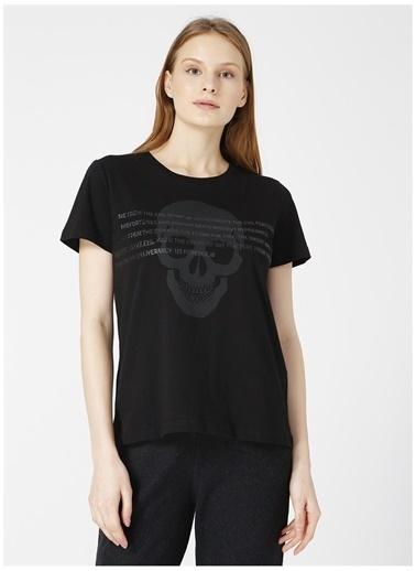 Black On Black Black On Black Massa Siyah Kadın T-Shirt Siyah